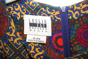 Vintage Umba for Parnes Feinstein Red Ruffled Neck Dress