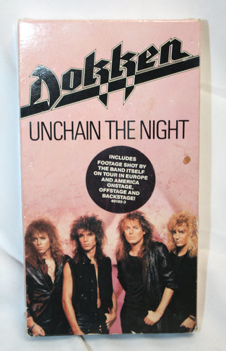 Dokken- Unchain the Night VHS Videos