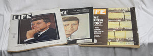 3 Vintage 1963-1964  Life & Post Magazines John F. Kennedy Editions