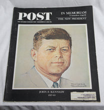 Load image into Gallery viewer, 3 Vintage 1963-1964  Life & Post Magazines John F. Kennedy Editions