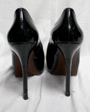 Load image into Gallery viewer, Enzo Angiolini Black Patent Leather Platform Peep-toe Pumps Size 7.5