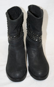 Women's Vince Camuto Black Studded Moto Boot Size 36 (US 6)