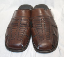 Load image into Gallery viewer, Tommy Bahama Brown Leather Top Weave Sandal Size 13
