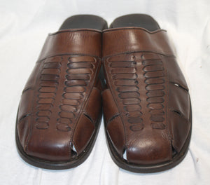 Tommy Bahama Brown Leather Top Weave Sandal Size 13
