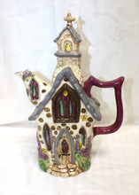 Load image into Gallery viewer, Carolina Espinosa Leather Pointed Toe Pump with Teal Band and Gold Metallic Toe Size 7.5