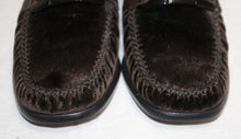 Load image into Gallery viewer, Stuart Weitzman Brown Velvet Loafer Size 5.5