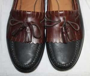 Johnston & Murphy Brown and Black Kiltie Loafer Size 11N (narrow)
