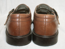 Load image into Gallery viewer, Stacy Adams Brown and Tan Leather and Canvas Closed Toe Fishermans Sandals Size 9M