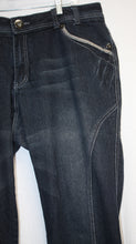 Load image into Gallery viewer, Lane Bryant Venezia Dark Blue w/ Black Overwash Jeans Size 20