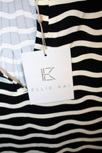 Load image into Gallery viewer, Ellie Kai - Elise Black and White Horizontal Wavy Stripe Blouse Size S NEW w/ Tags