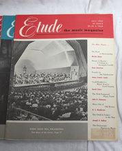 Load image into Gallery viewer, Lot of 8 Etude Music Magazine Issues 1948-1953