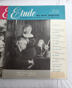 Lot of 8 Etude Music Magazine Issues 1948-1953