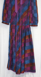 You Babe II 70's/80's 3/4th Puff Sleeve Dress w/ Tie Belt Size 13