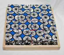 Load image into Gallery viewer, Marimekko Decorative Wooden Blocks 16 blocks and Tray frame