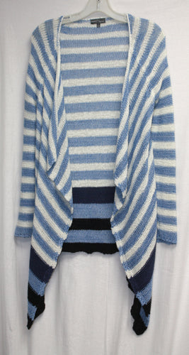 Market & Spruce Blues and Whites Long Cardigan Size S