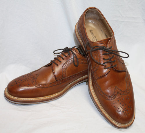 Men's Russel & Bromley Brown Laceup Oxford Brogue Size 8