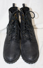 Load image into Gallery viewer, Melrose & Market Black Leather Heeled Ankle Boot Size 9M