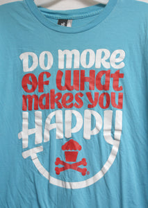 "Johnny Cupcakes Blue ""Do more of what makes you happy"" T-Shirt Size L"