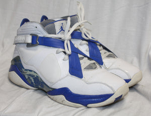 Nike 467807-102 Air Jordan 8.0 White / Blue-Silver Size 8.5