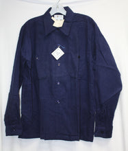 Load image into Gallery viewer, Vintage Mac Phergus Pinwale Blue Corduroy Log Sleeve Button Up Size L  NEW w/ Tags