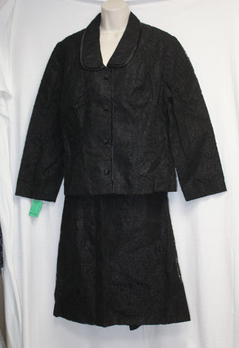 Vintage - Miss Marco - A division of Marco Polo Imports Black Lace 2 Pc Jacket & Skirt Size 20 - NEW/ Vintage Tags