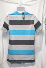 Load image into Gallery viewer, Boardwalk Striped Casual Stripe Gray Blue Pocket T-Shirt Size XL