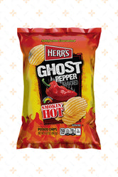 HERR'S SMOKIN' HOT GHOST PEPPER POTATO CHIPS 184.3G
