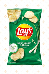 LAY'S POTATO CHIPS SOUR CREAM & ONION 184.2G