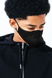 HYPE KIDS BLACK KNIT FACE MASK