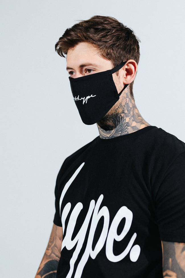 HYPE ADULT BLACK SIGNATURE FACE MASK