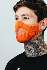 HYPE ADULT ORANGE KNIT FACE MASK