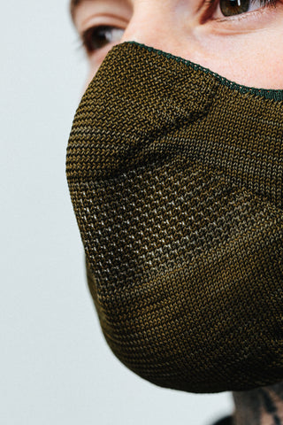HYPE ADULT BROWN MELANGE KNIT FACE MASK
