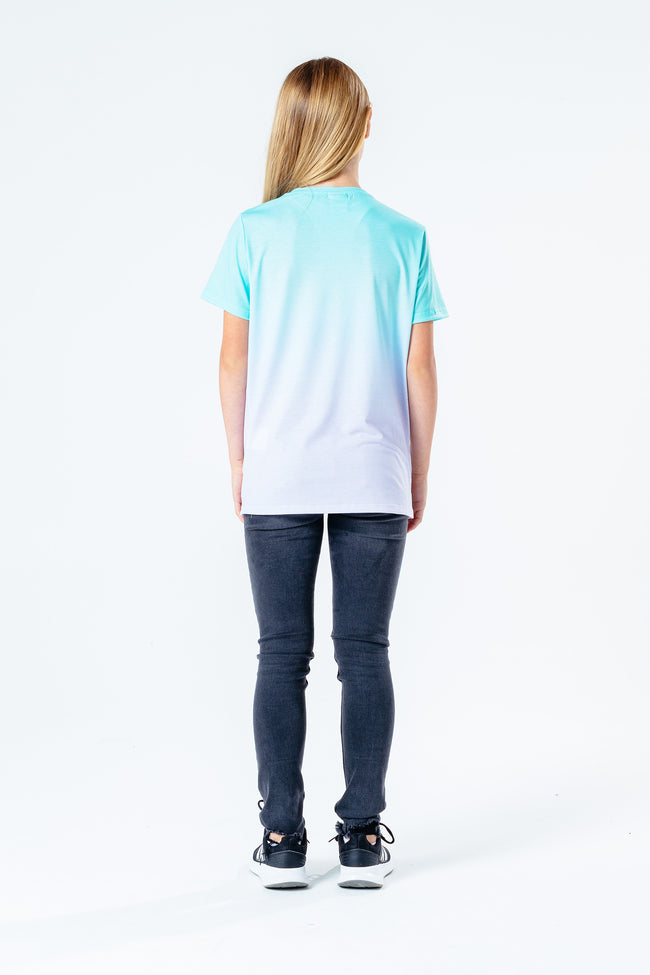 Hype Teal & Pink Fade Kids T-Shirt