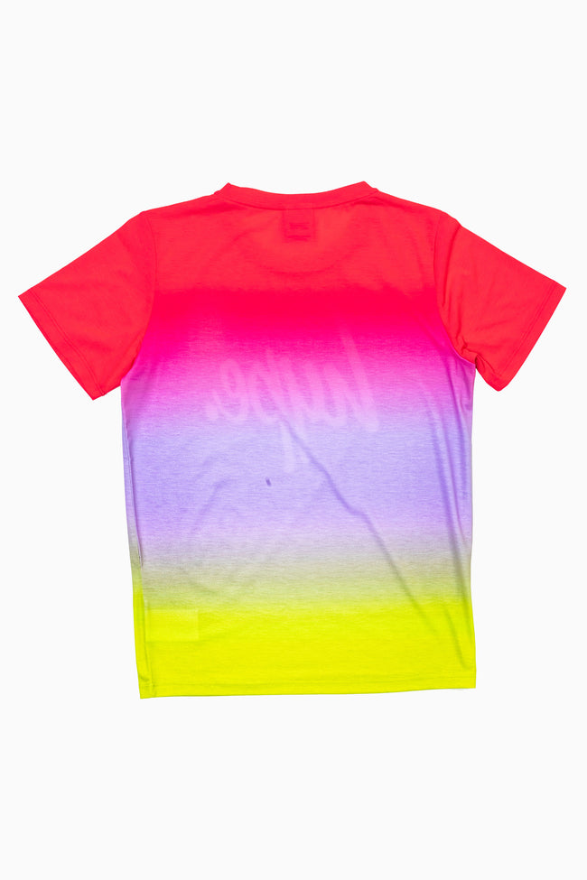 Hype Pink & Yellow Fade Kids T-Shirt