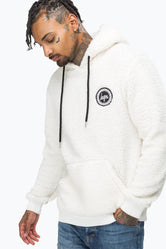 HYPE WHITE SHERPA MEN'S PULLOVER HOODIE