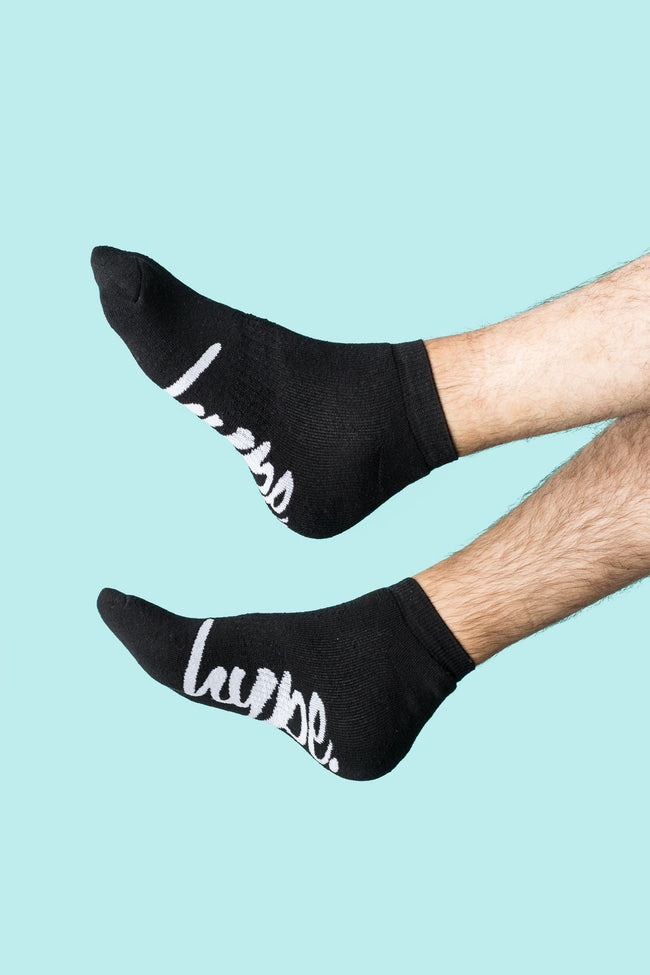 HYPE BLACK ANKLE SOCKS 3X PACK