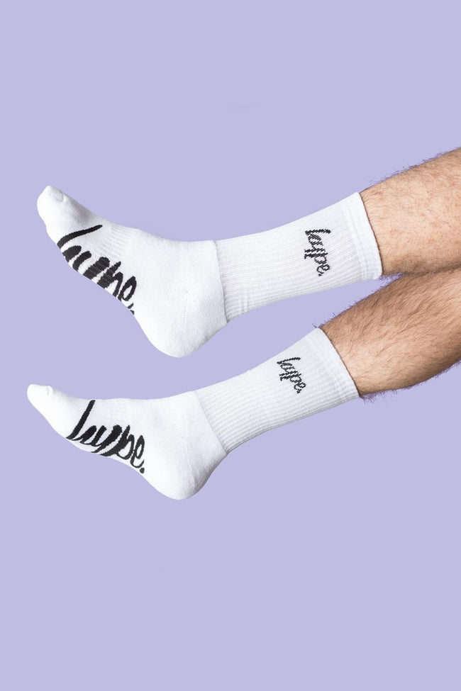 HYPE WHITE CORE CREW SOCKS 3X PACK