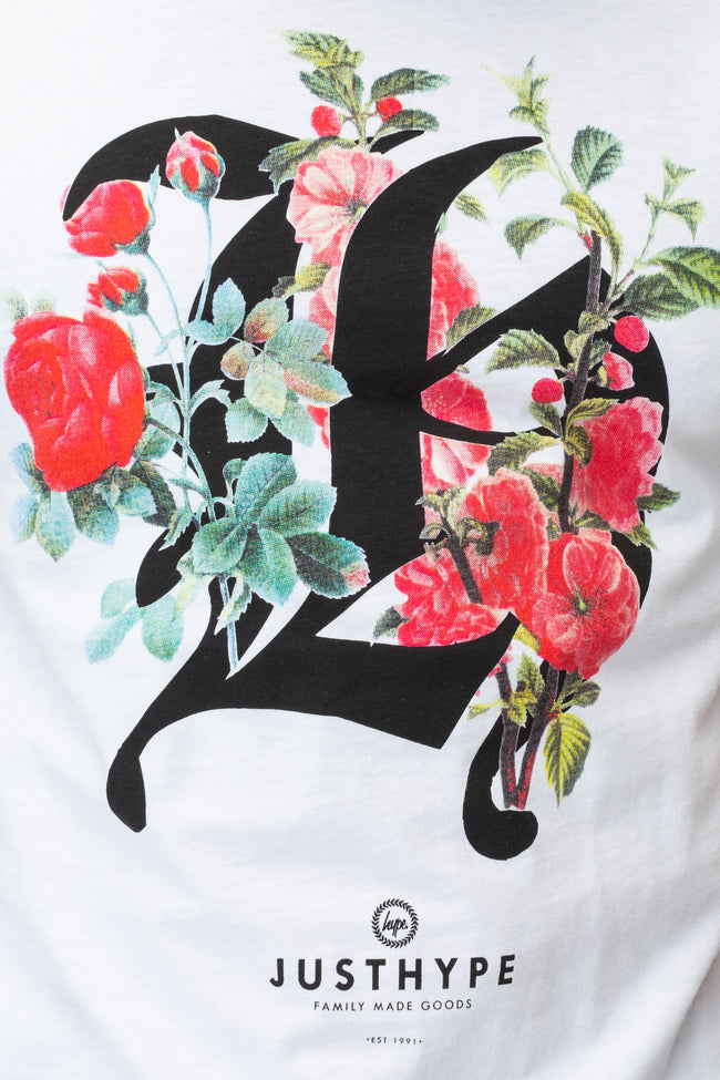 HYPE WHITE JH BLOOM MENS T-SHIRT