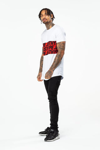HYPE WHITE SPORTING JH MENS T-SHIRT
