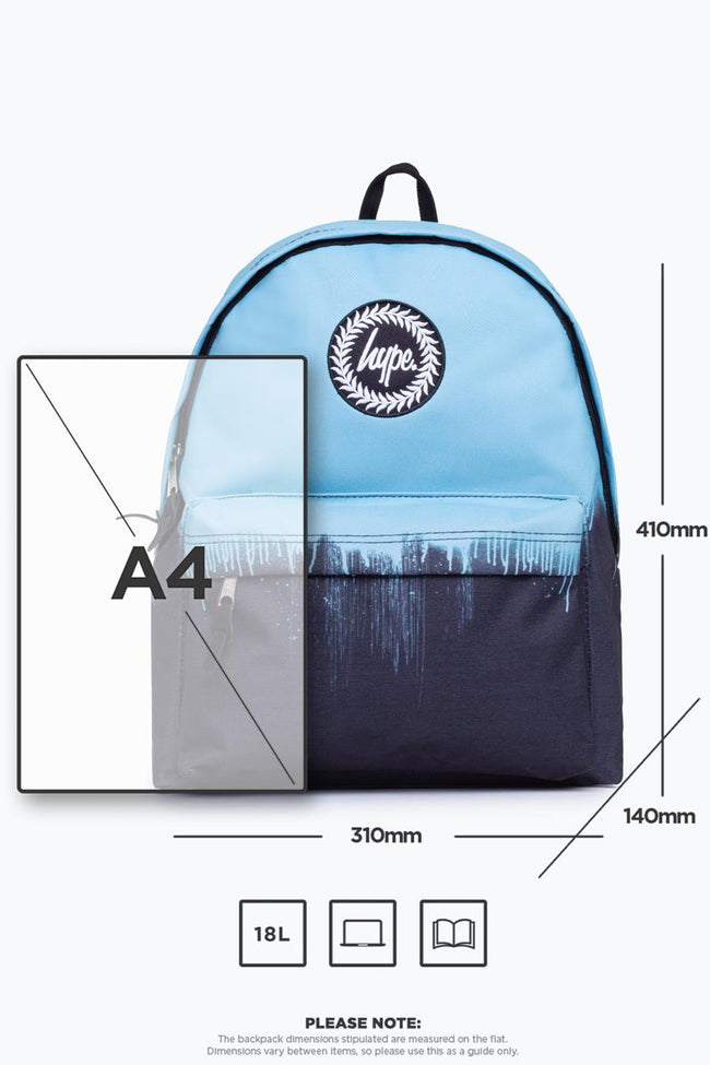 HYPE BABY BLUE DRIPS BACKPACK