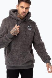 HYPE CHARCOAL SHERPA MEN'S PULLOVER HOODIE