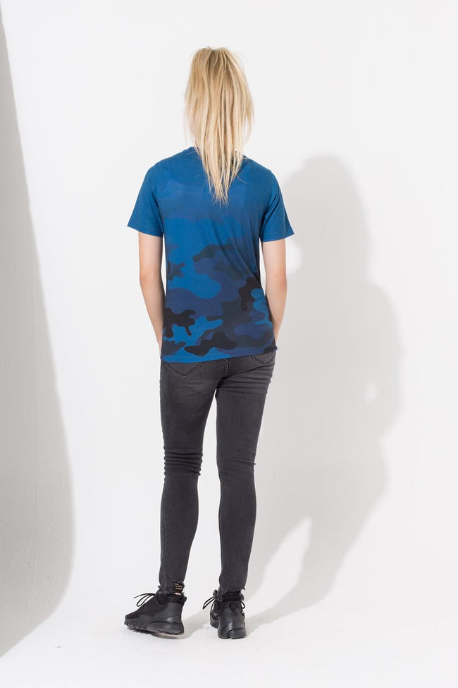 HYPE BLUE CAMO FADE KIDS SUB T-SHIRT
