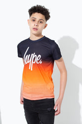 HYPE BLACK SPECKLE FADE KIDS T-SHIRT