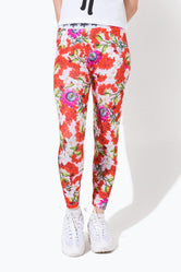 HYPE PINK FLORAL KIDS LEGGINGS