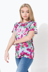 HYPE BLUE FLORAL TAPED KIDS SUB T-SHIRT