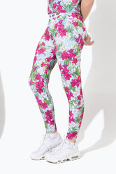 HYPE BLUE FLORAL KIDS LEGGINGS
