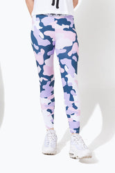 HYPE PINK DUNK CAMO KIDS LEGGINGS