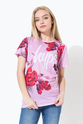 HYPE PINK FLORAL KIDS SUB T-SHIRT