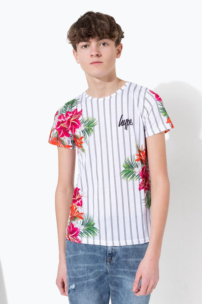 HYPE WHITE DONLON FLORAL KIDS T-SHIRT