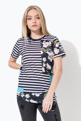 HYPE STRIPED PHOTO KIDS DISHED SUB T-SHIRT